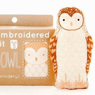 DIY Embroidered Doll Kit - Kiriki Press - Level 3 - Barn Owl