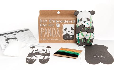 DIY Embroidered Doll Kit - Kiriki Press - Level 1 - Panda