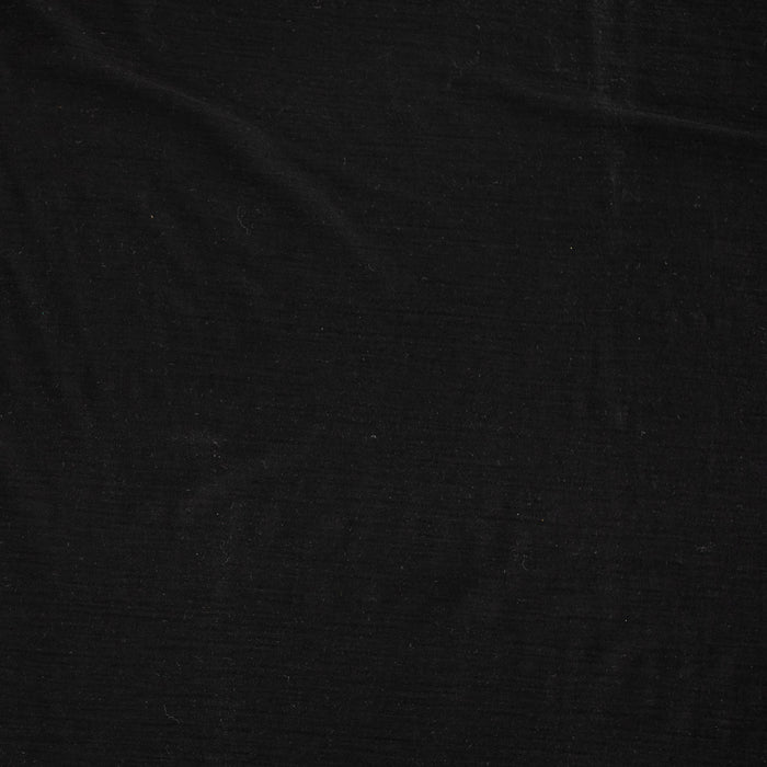 Superfine Merino Wool Jersey - Black - 1/4m