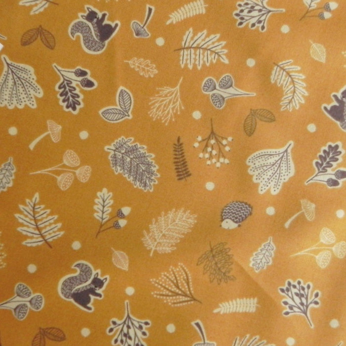 Quilting Cotton - Under The Oak Tree - Golden - 1/4m