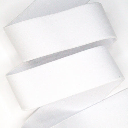 "Plush Waistband Elastic - 1.5"" - White - 1m"