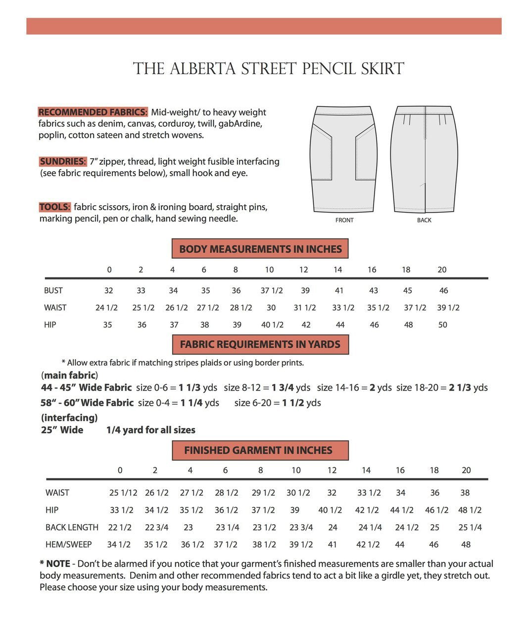 Sew House 7 - Alberta Street Pencil Skirt