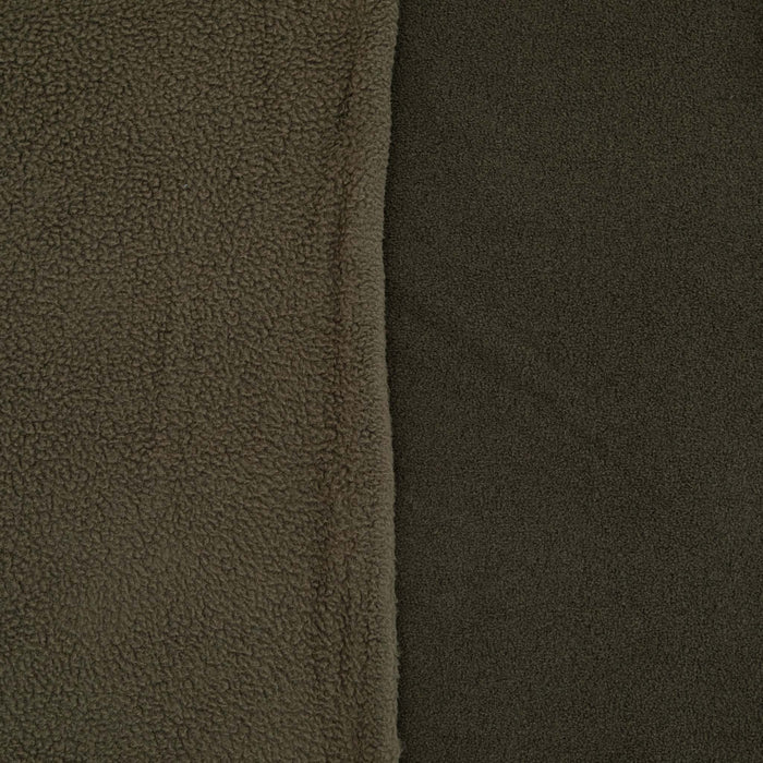 Double-Sided Sherpa Fleece - Gunmetal/Dark Grey - 1/4m