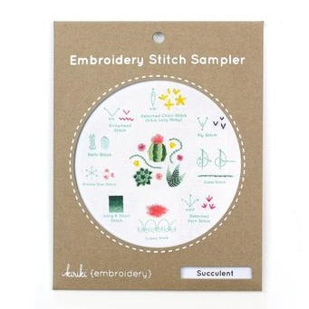 Stitch Sampler - Kiriki Press - Succulent