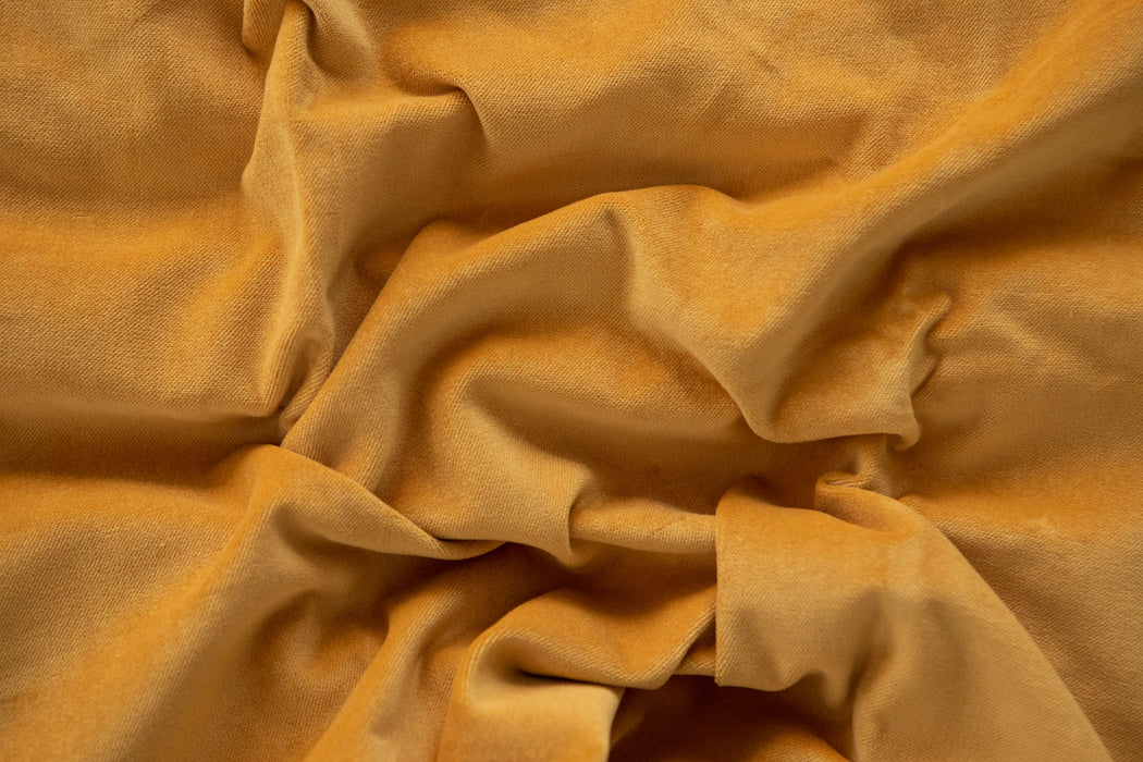 Cotton Velvet - Ochre - 1/4m