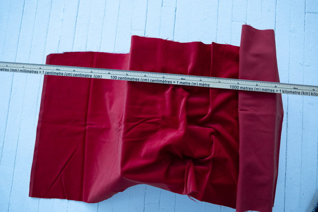 Cotton Velvet - Red - 1/4m