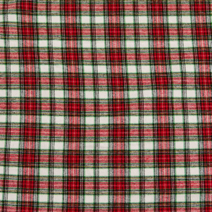 Yarn-Dyed Flannel Plaid - Red & Green - 1/4m