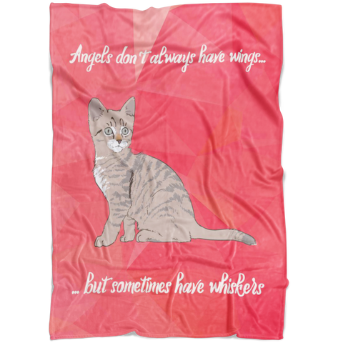 Angels Have Whiskers Fleece Blanket