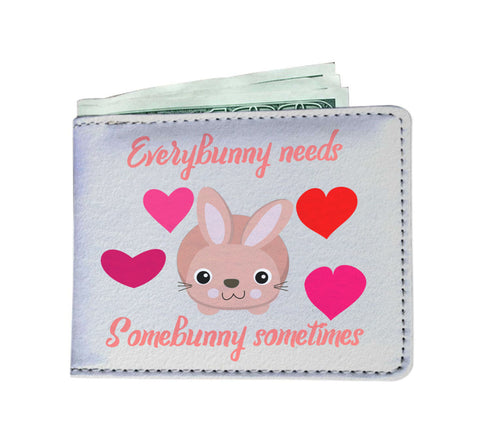 Everybunny Needs Somebunny Men's Wallet