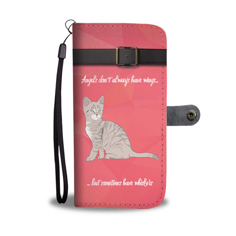 Angels Have Whiskers Wallet Case