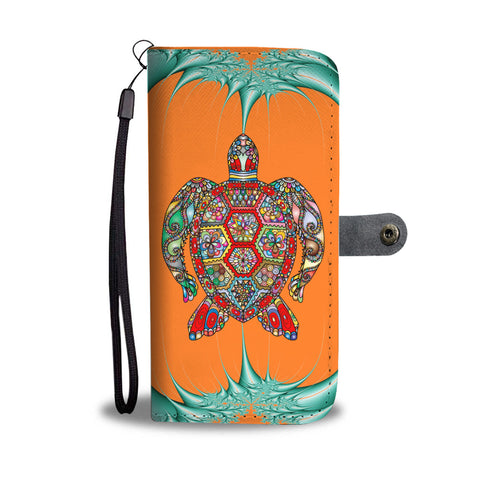 Psychedelic Sea Turtle Wallet Case