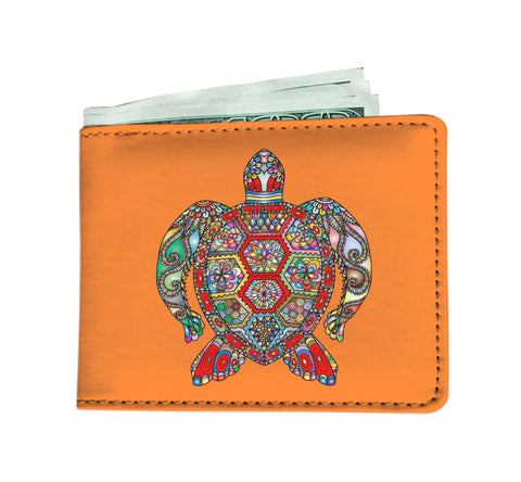 Psychedelic Sea Turtle Men's Wallet