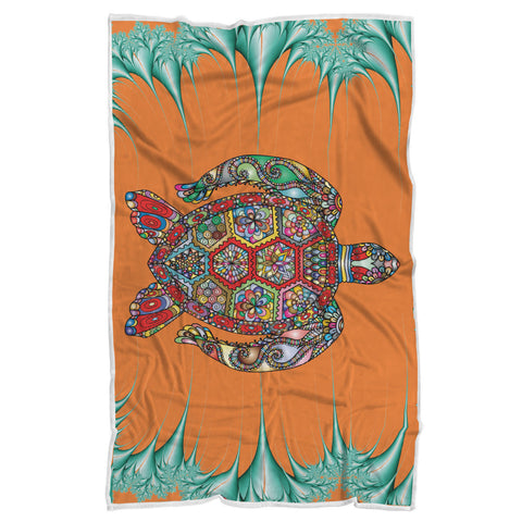 Psychedelic Sea Turtle Blanket