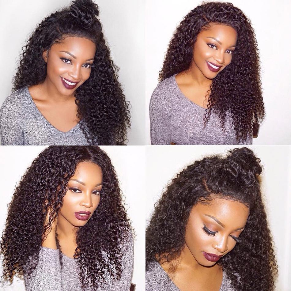 Kinky Curly 1 Bundle 100 Human Hair Weft Extensions Natural Color