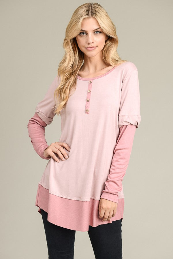 Pink Two-Toned Tunic