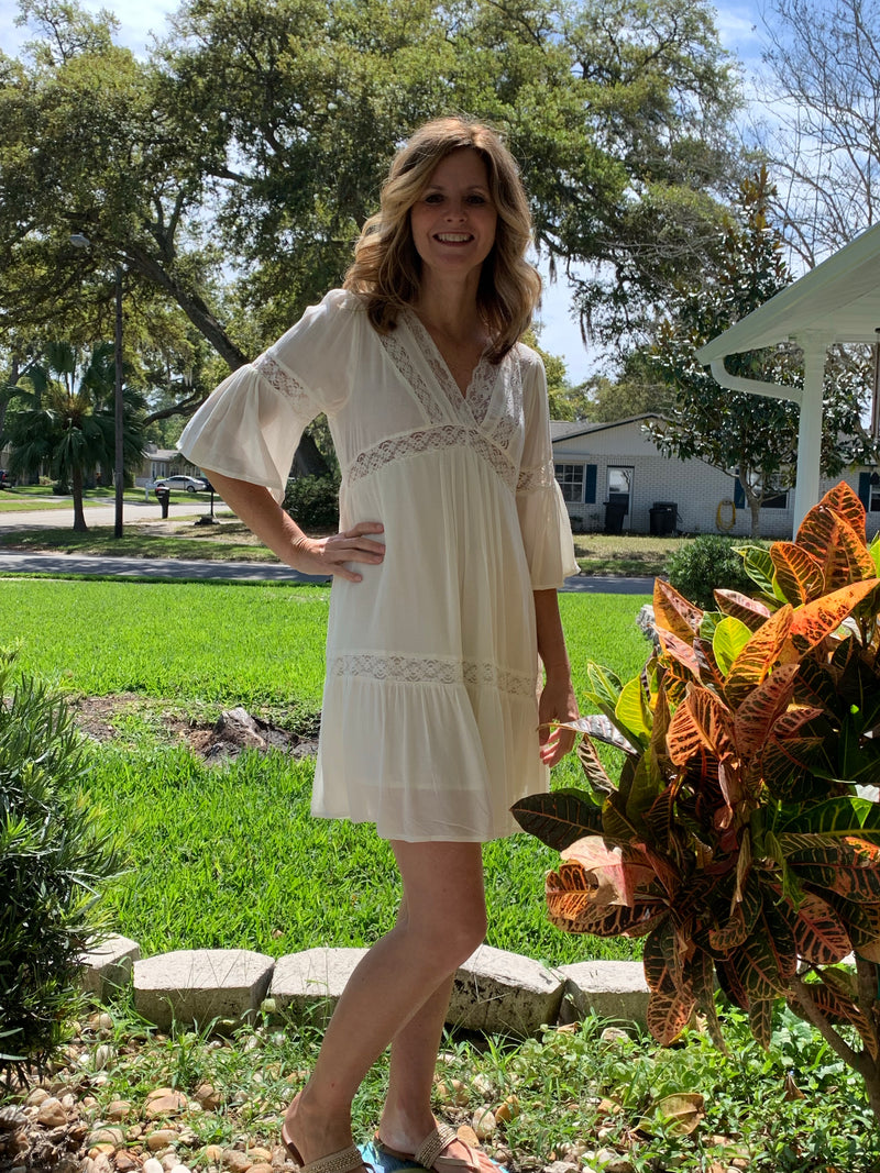 Ivory Lace & Crochet Dress