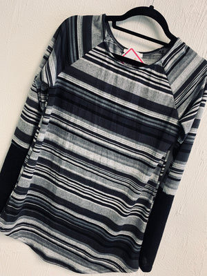Charcoal Striped Tunic