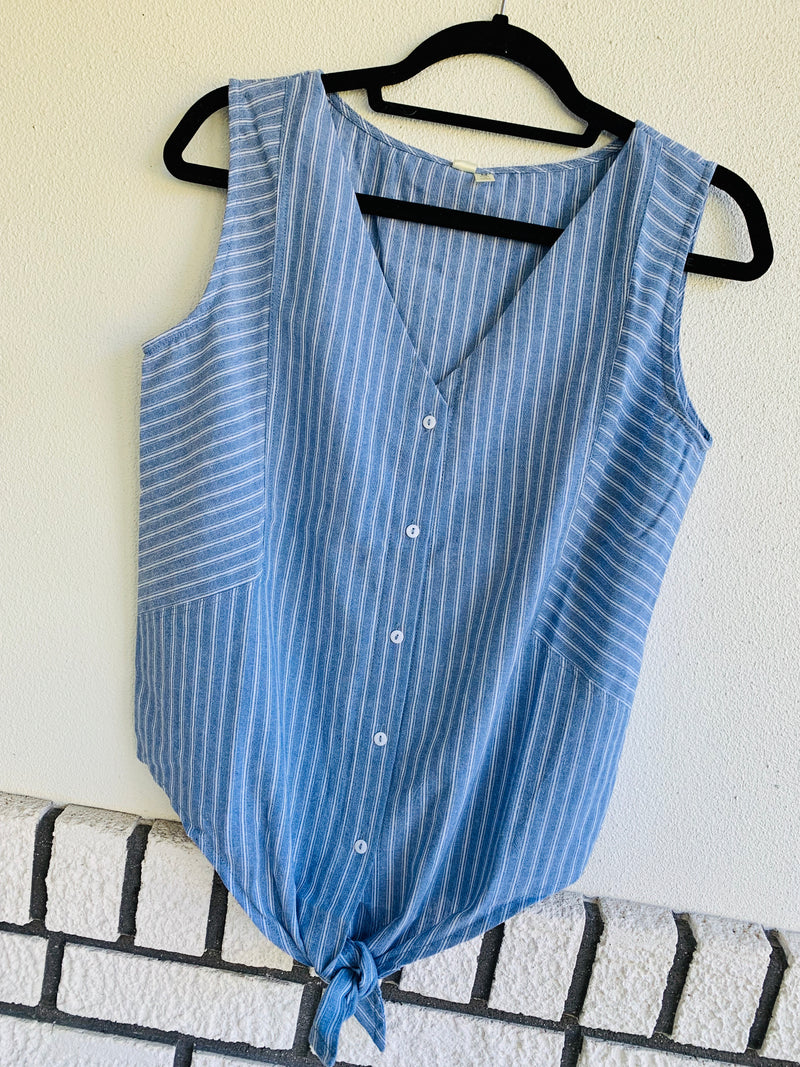 Stripe Knotted Tank