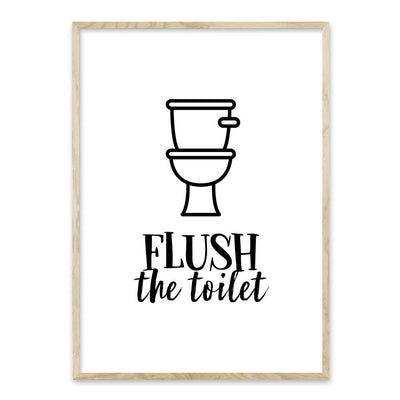 Flush the Toilet - plakat