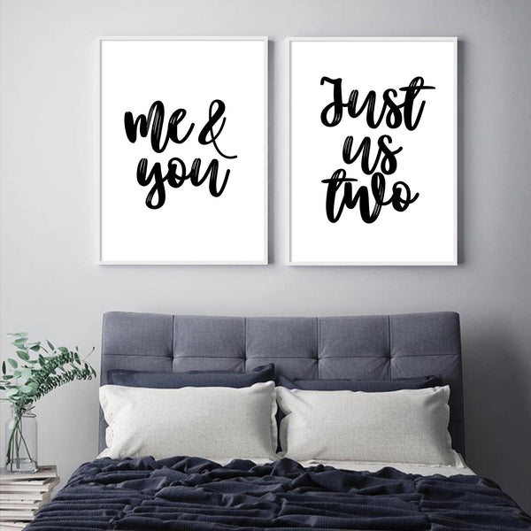 Me and You + Just us Two - plakat sampak
