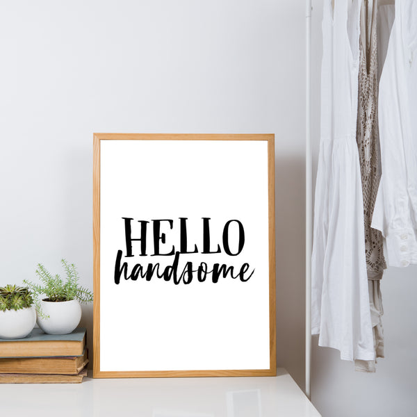Hello Handsome - plakat