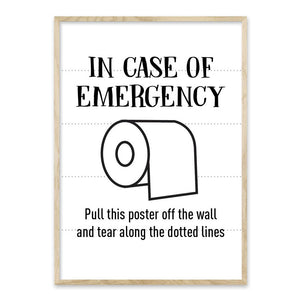 In case of emergency - plakat