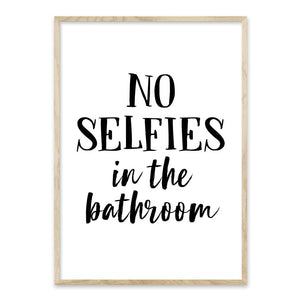 No selfies in the bathroom - plakat