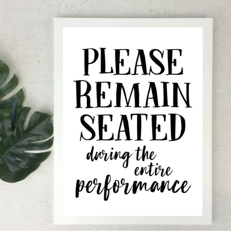 Please remain seated - plakat