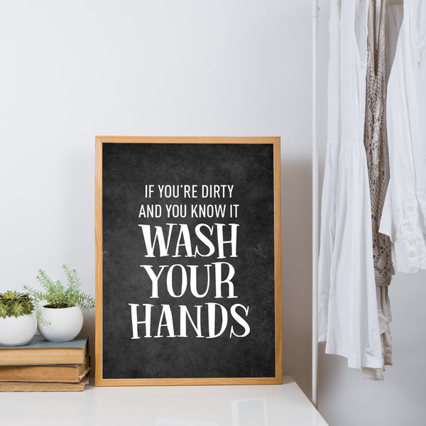 Wash your hands - plakat