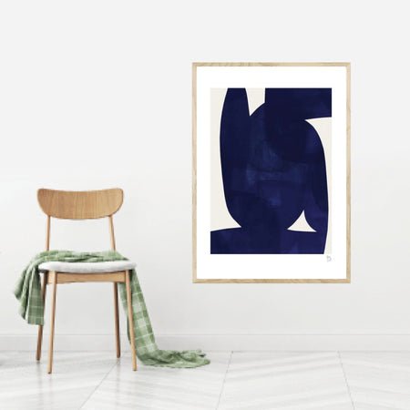 Blue shape plakat
