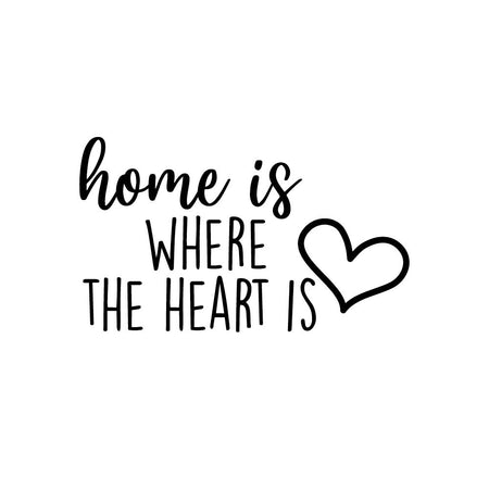 Home is where the heart is - wallsticker