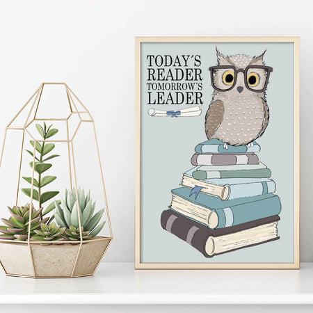 Today's reader, tomorrow's leader - Plakat