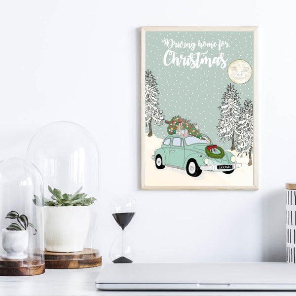 Jul - Driving home for christmas - Plakat
