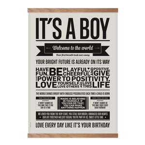 Plakat fra I Love My Type - It's a Boy