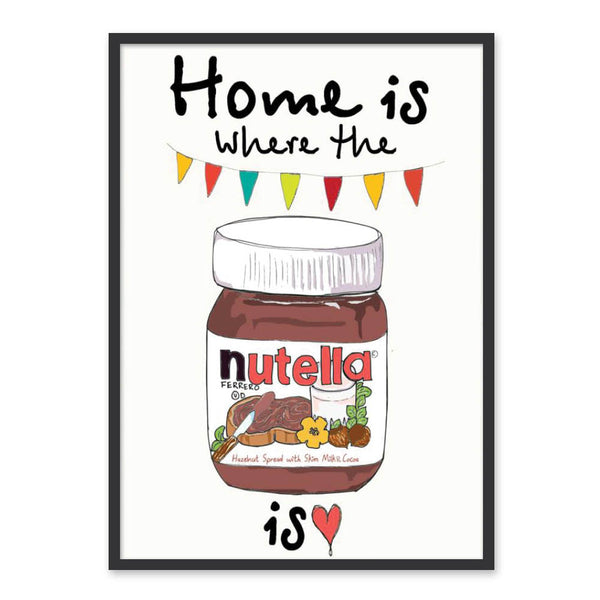 Home is where the Nutella is - Plakat