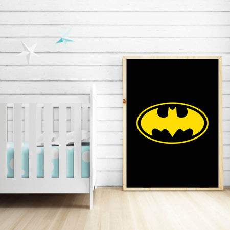 Sort med Batman logo - plakat