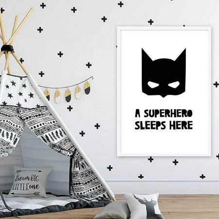 A superhero sleeps here - plakat