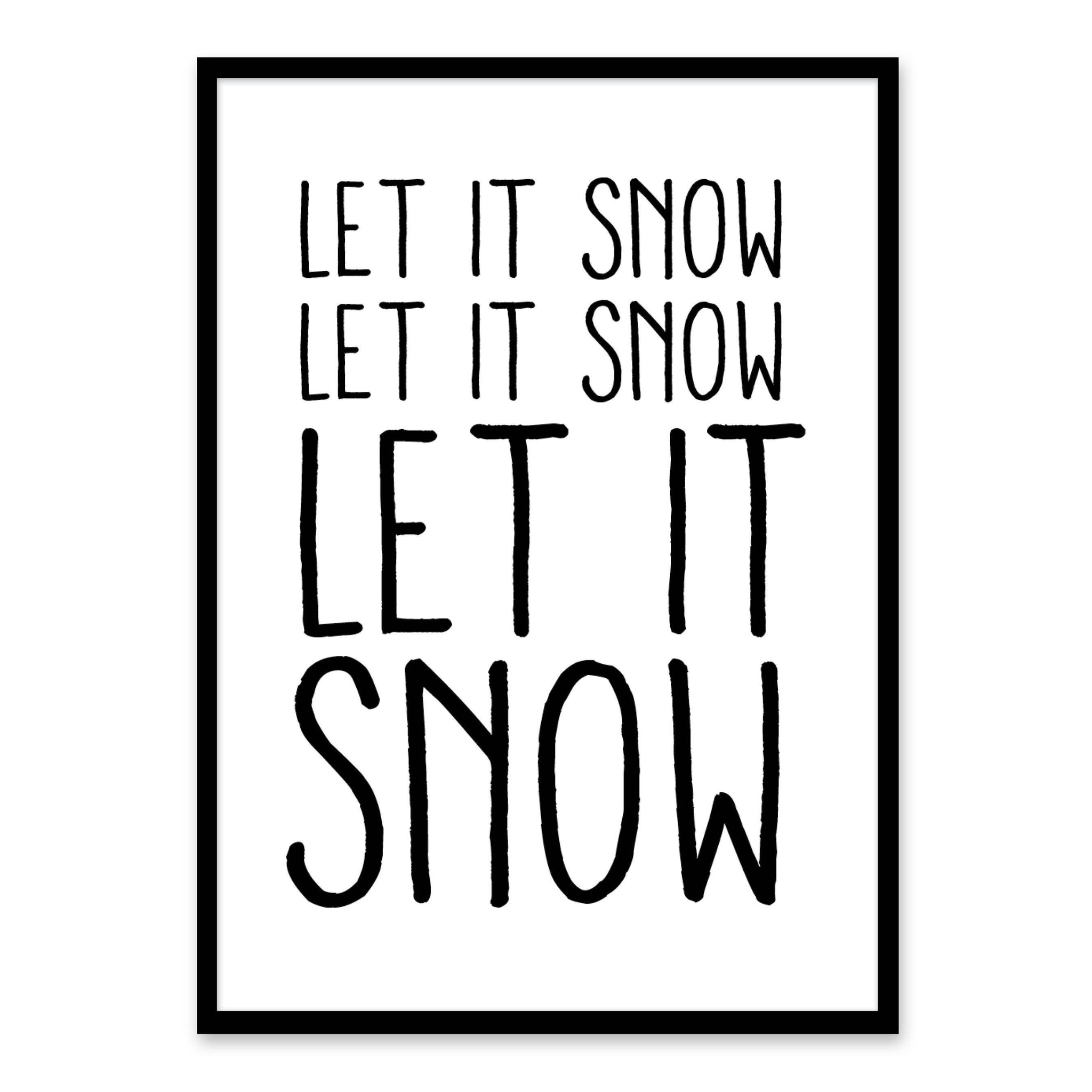 Let it Snow - Juleplakat