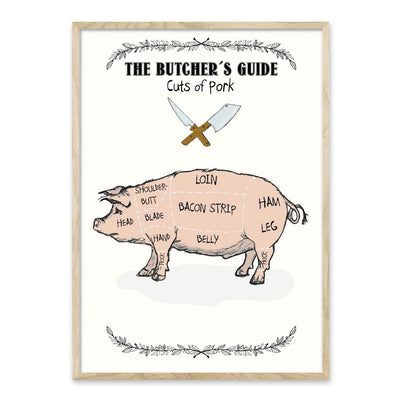 The Butchers Guide - Gris - Plakat