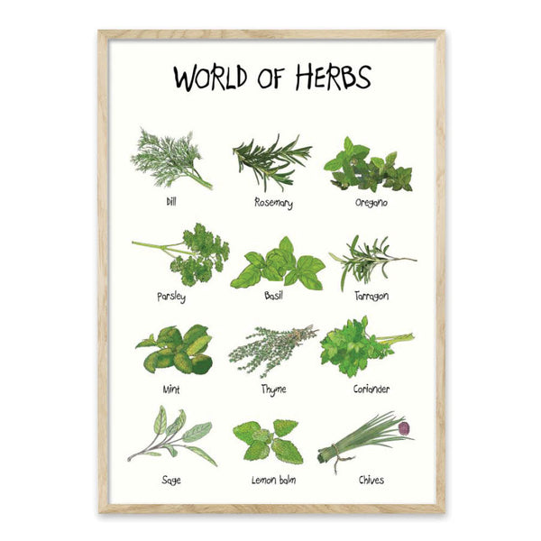 World of Herbs - Plakat