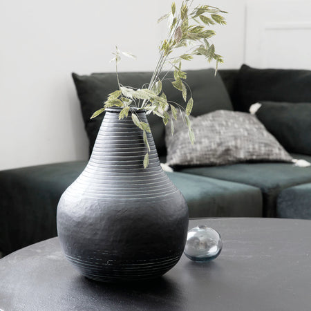 Sort Stribe Vase