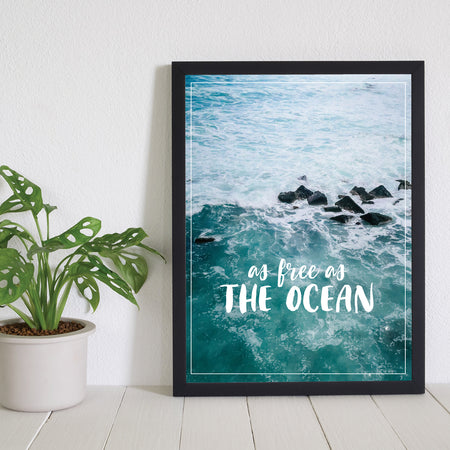 As Free as the Ocean - Plakat