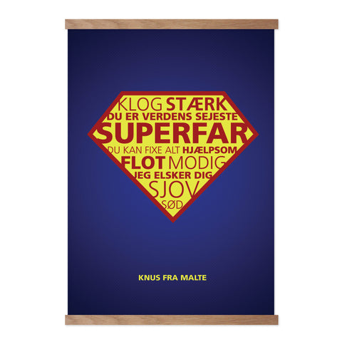 SUPER FAR - Design selv plakat