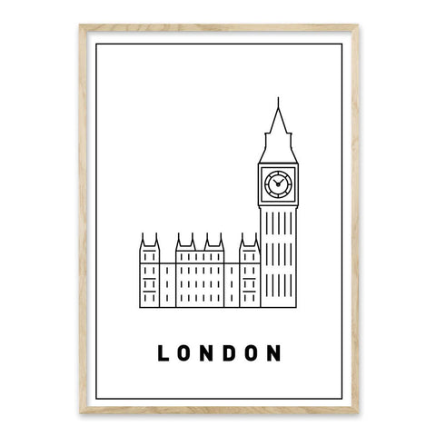 London - Design selv byplakat