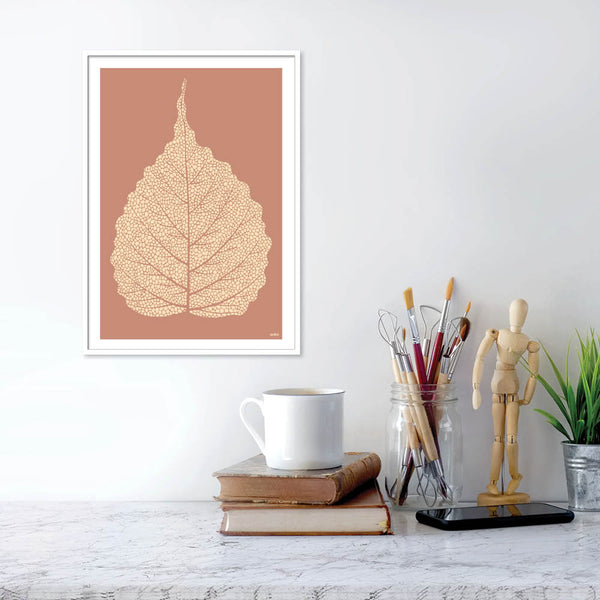 Golden leaf terracotta - plakat