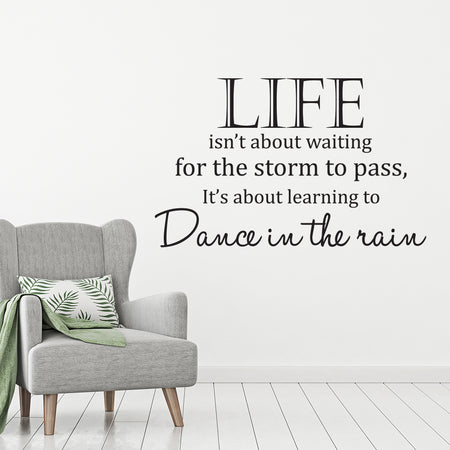 Life isn't about waiting.. Wallsticker