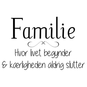Familie wallsticker