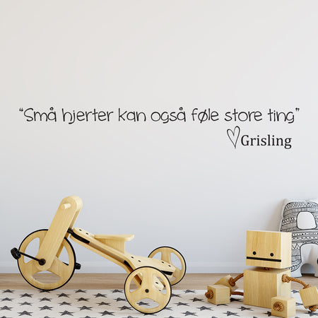 Grislings citat wallsticker