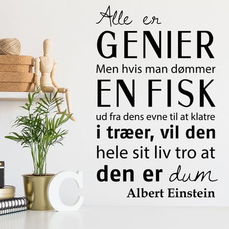 Albert Einstein citat wallsticker