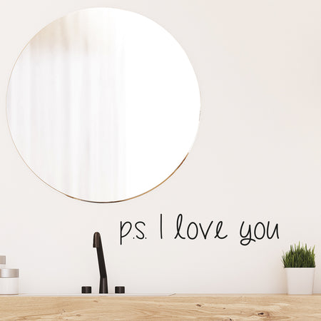 PS I love you wallsticker